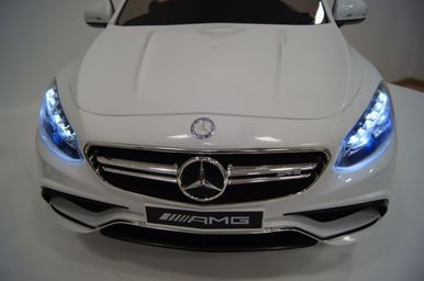 Электромобиль Mercedes-Benz S63-WHITE 5