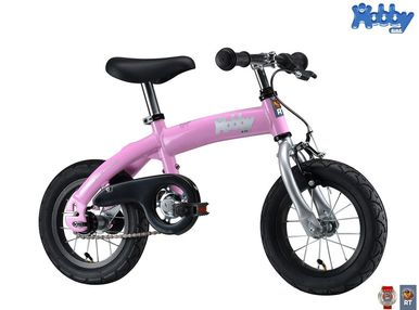 Велобалансир+велосипед Hobby-bike RT original pink aluminium   4