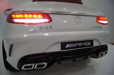 Электромобиль Mercedes-Benz S63-WHITE 8