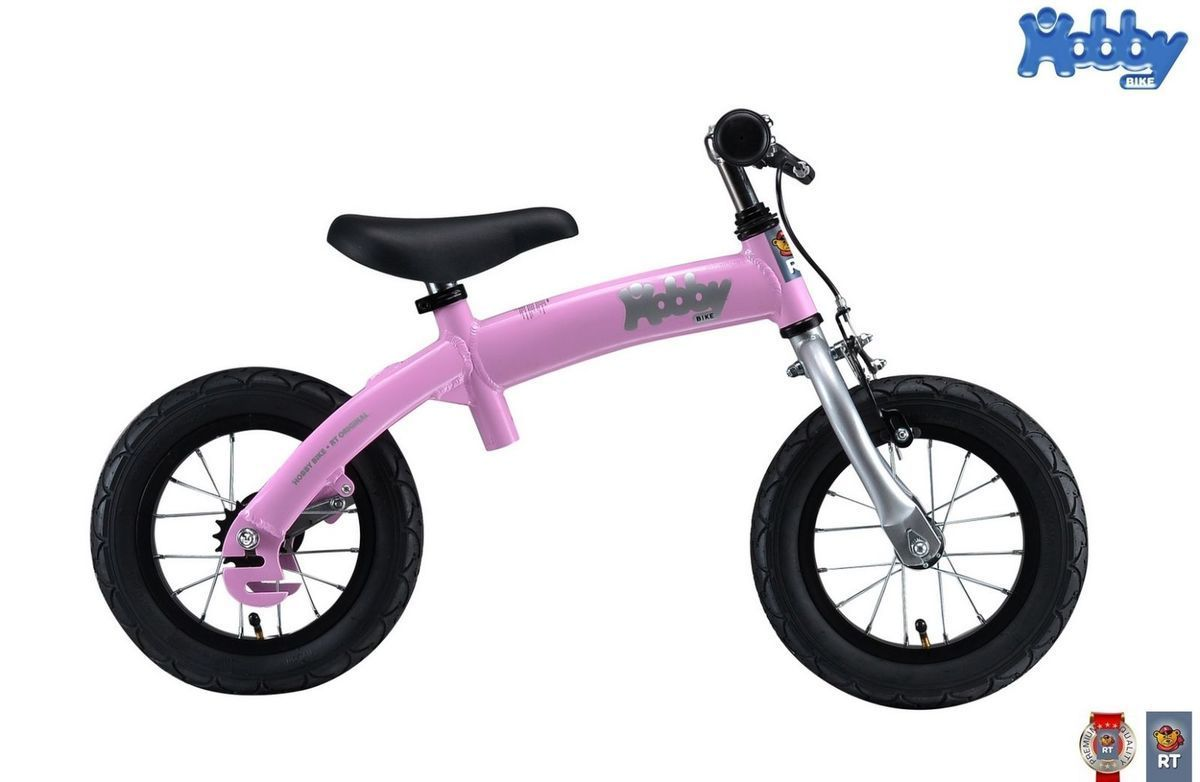 Велобалансир+велосипед Hobby-bike RT original pink aluminium